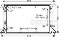 Радиатор охлаждения VAN WEZEL 03002293