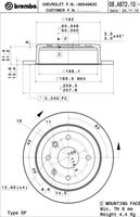 Тормозной диск Brembo 08.A872.10
