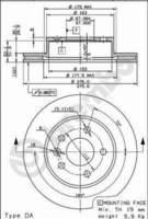 Тормозной диск BREMBO 09.6983.10