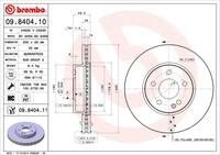 Тормозной диск Brembo 09.8404.10