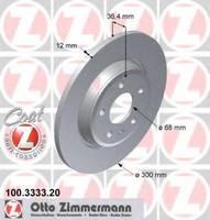Тормозной диск Zimmermann 100.3333.20