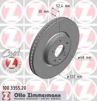 Тормозной диск Zimmermann 100.3355.20