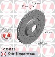 Тормозной диск Zimmermann 100.3355.52