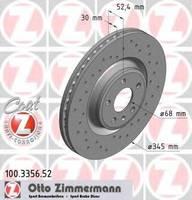 Тормозной диск Zimmermann 100.3356.52