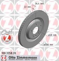 Тормозной диск Zimmermann 100.3358.20
