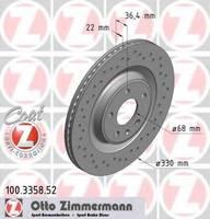 Тормозной диск Zimmermann 100.3358.52