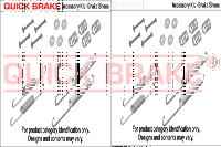 Монтажный комплект барабанных колодок QUICK BRAKE 105-0010