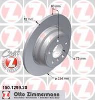 Тормозной диск ZIMMERMANN 150.1299.20