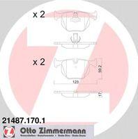 Тормозные колодки Zimmermann 21487.170.1