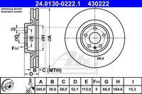 Тормозной диск ATE 24.0130-0222.1