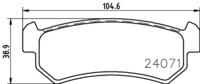 Тормозные колодки TEXTAR 2407101