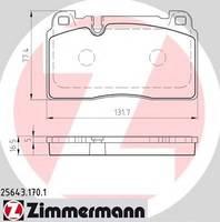 Тормозные колодки Zimmermann 25643.170.1