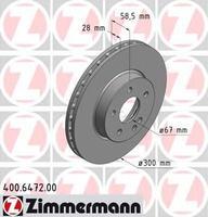 Тормозной диск ZIMMERMANN 400.6472.20