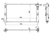 Основной радиатор (двигателя) NRF 53906