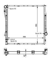 Основной радиатор (двигателя) NRF 55328