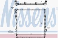 Основной радиатор (двигателя) NISSENS 60788A