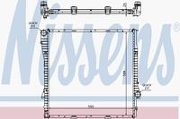 Основной радиатор (двигателя) NISSENS 60789A