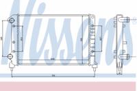 Радиатор охлаждения Nissens 61767