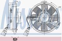 Вентилятор радиатора Nissens 85547