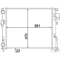 Основной радиатор (двигателя) HELLA 8MK376 771-761