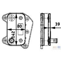 Масляный радиатор HELLA 8MO376 726-321
