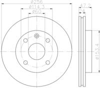 Тормозной диск Textar 92133600