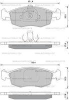 Комплект тормозных колодок Starline BDS370