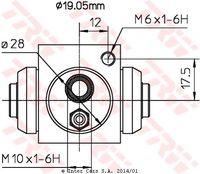 Колёсный тормозной цилиндр TRW BWD119A