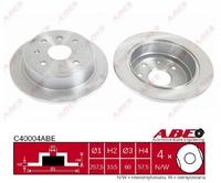 Тормозной диск ABE C40004ABE