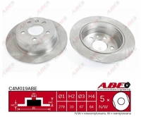 Тормозной диск ABE C4M019ABE