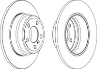 Тормозной диск Ferodo DDF1255
