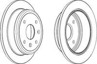 Тормозной диск Ferodo DDF1606