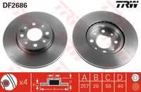 Тормозной диск TRW DF2686