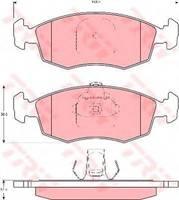 Комплект тормозных колодок TRW GDB1383