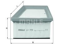 Воздушный фильтр Knecht  LX773