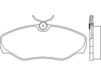 Тормозные колодки Brembo P56 061